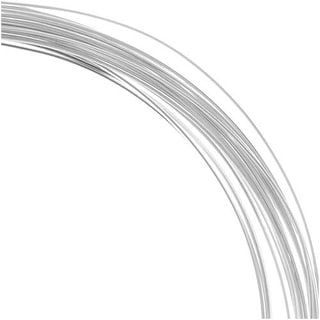 Beadalon Silver Filled Wire, Half Hard / Round 22 Gauge Thick, 0.5 Ounces, Silver