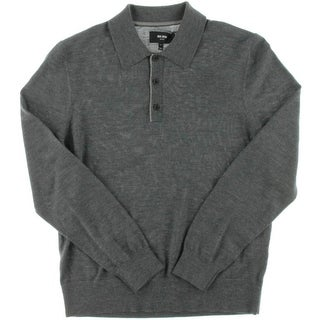 Jack Spade Mens Wool Long Sleeves Polo Sweater - M