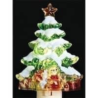 Snowy Christmas Tree with Presents Decorative Christmas Night Light