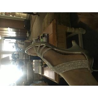 4c8fe86341 Delicacy Womens Angel-37A Open Toe Med Heel Wedding Dress Sandal Shoes -  Silver