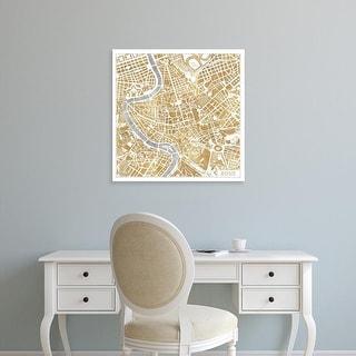 Easy Art Prints Laura Marshall's 'Gilded Rome Map' Premium Canvas Art