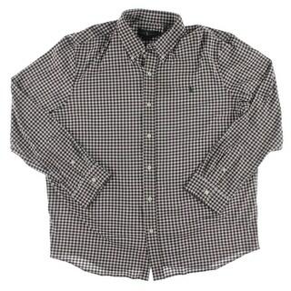 Ralph Lauren Mens Button-Down Shirt Knit Checkered - XXL