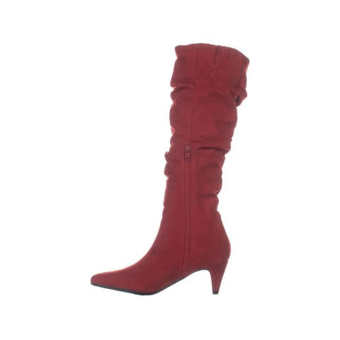 Bar III Womens Edina Fabric Pointed Toe Knee High Fashion Boots