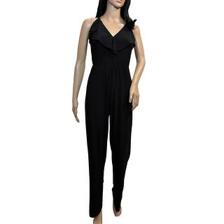 Link to Bebe Black Ruffle Jumpsuit Similar Items in Outfits