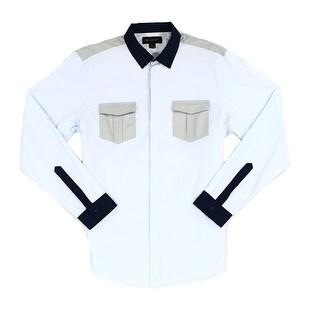 INC NEW Blue Mens Size 2XL Chest-Pocket Button Down Colorblock Shirt|https://ak1.ostkcdn.com/images/products/is/images/direct/873f1d0646d2d471bb0310c21def21d443bcdca8/INC-NEW-Blue-Mens-Size-2XL-Chest-Pocket-Button-Down-Colorblock-Shirt.jpg?_ostk_perf_=percv&impolicy=medium