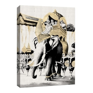 """PTM Images 9-126662  PTM Canvas Collection 8"""" x 10"""" - """"Traveling India II"""" Giclee Elephants Art Print on Canvas"""