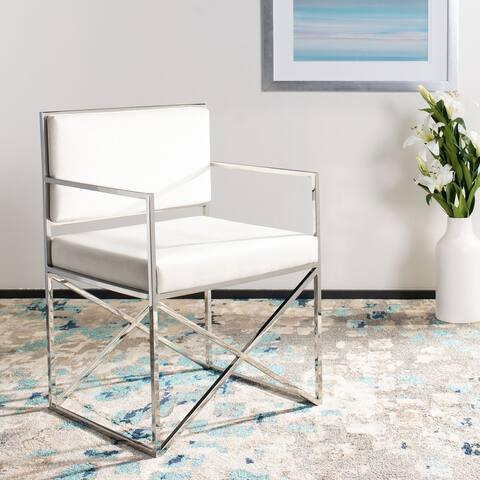 "Safavieh Couture Kian Velvet Directors Chair - 21.7""x20.5""x32.3"""