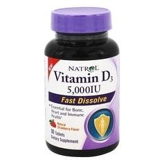 Natrol Vitamin D3 5,000Iu Fast Dissolve (90 Tablets)