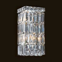 "Worldwide Lighting W23521C6 Cascade 2 Light 6"" ADA Wall Sconce in Chrome with Clear Crystals"