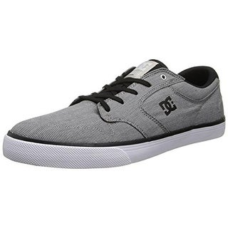 DC Mens Nyjah Vulcanised TX SE Canvas Houndstooth Skate Shoes