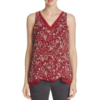 Sanctuary Womens Tank Top Keyhole Floral Print