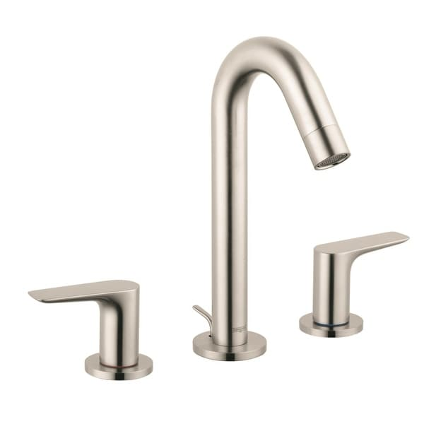 Hansgrohe 71533 Logis Widespread Bathroom Faucet With Ecoright And Comfortzone Technologies Drain Embly Included