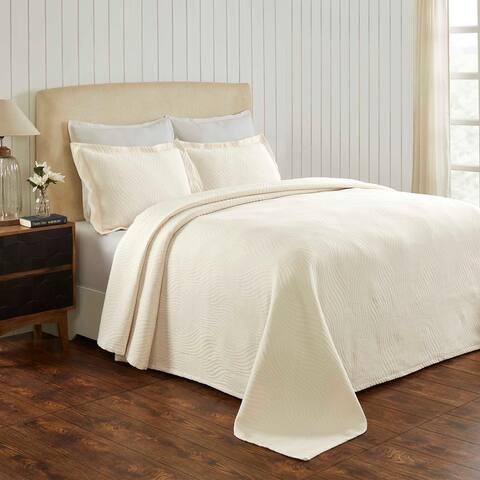 Miranda Haus Laurence Cotton Jacquard Matelasse Bedspread Set