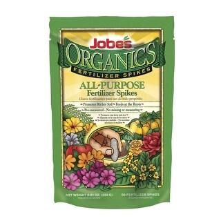 Jobes 06528 Organic All Purpose Fertilizer Spikes, 4-4-4