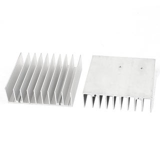 Unique Bargains 2 Pcs 76x70x21mm Aluminum Heatsink For LED Power IC Transistor