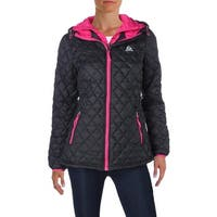 Reebok Womens Coat Quilted Hooded