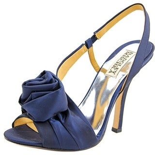 Badgley Mischka Lanah Women Open-Toe Canvas Blue Slingback Heel