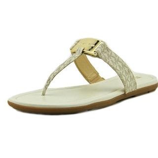 Michael Michael Kors Colleen Thong Open Toe Leather Thong Sandal