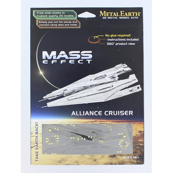 Mass Effect 3D Laser-Cut Model Alliance Cruiser - multi