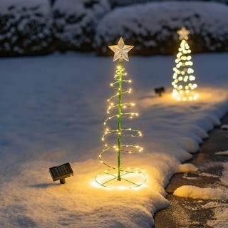Link to Solar LED Metal Christmas Tree Decoration Light - 2 Color Options Similar Items in Christmas Decorations