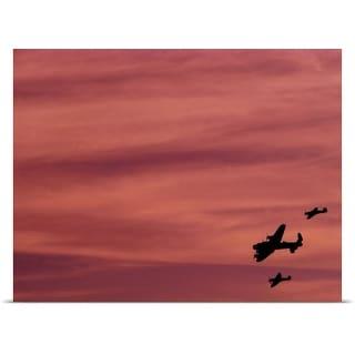 Poster Print entitled RAF Lancaster, Hurricane, Spitfire