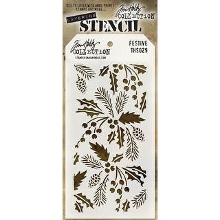 "Tim Holtz Layered Stencil 4.125""X8.5""-Festive