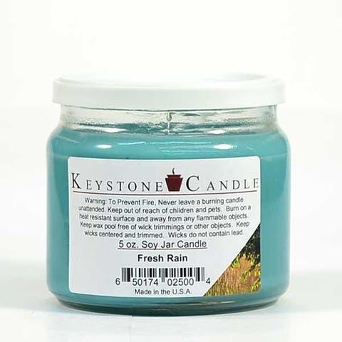 1 Pc 5 oz Fresh Rain Soy Jar Candles 3.5 in. diameter x 2.75 in. tall