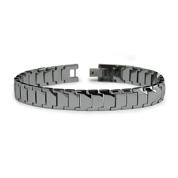 High Polished Tungsten Men's Link Bracelet (11mm Wide) - 8 Inches