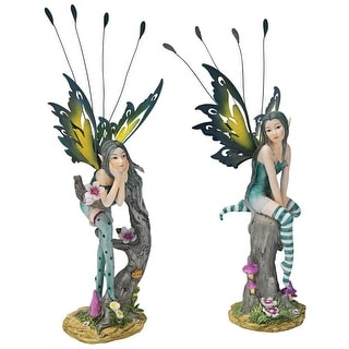 Design Toscano Lochloy House Fairy Twins Statues