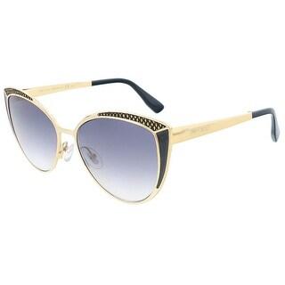 Jimmy Choo JMC DOMI/S 0PSU Gold Black Cateye sunglasses