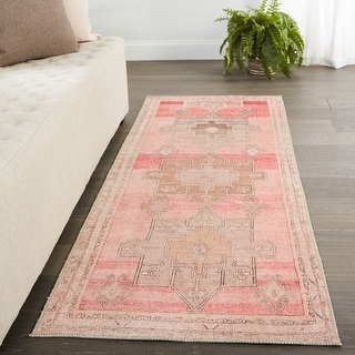 Link to Vibe by Jaipur Living Faron Medallion Pink/ Tan Area Rug Similar Items in Rugs