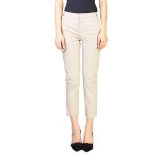 Prada Women's Cotton Slim Fit Pants Khaki