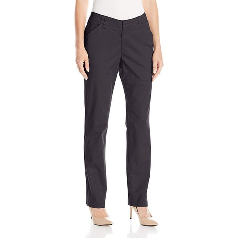 Lee Blue Womens Size 14W Plus Essential Chino Mid Rise Dress Pants