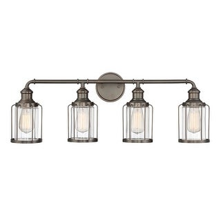 """Designers Fountain 91304 Anson 4 Light 32"""" Wide Bathroom Vanity Light with Glass"""