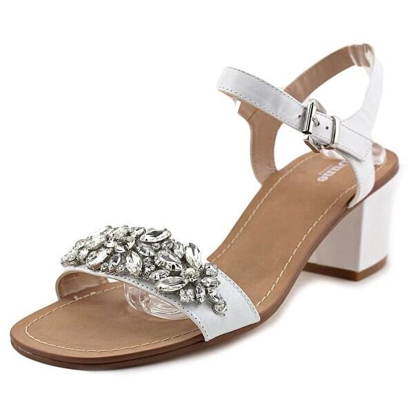 Dune London Mahala Women Open Toe Leather White Sandals