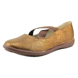 Balleto by Jumping Jacks Sophia Youth N Open Toe Canvas Bronze Sandals