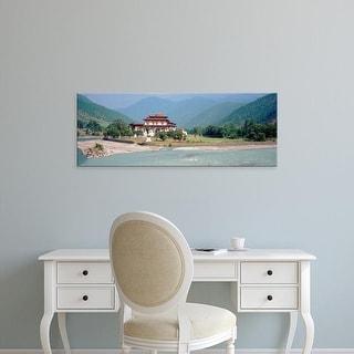 Easy Art Prints Panoramic Images's 'Palace On A Riverbank, Punakha Dzong, Punakha, Bhutan' Premium Canvas Art