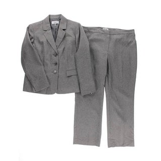 Le Suit Womens Petites 2PC Heathered Pant Suit - 16p