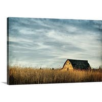 Premium Thick-Wrap Canvas entitled Saskatchewan barn - Multi-color