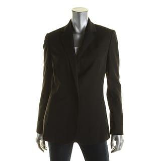 Lauren Ralph Lauren Womens One-Button Blazer Twill Notch Collar