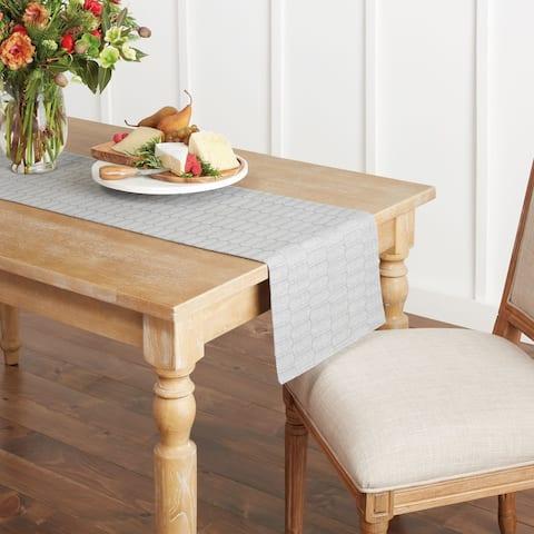 "Martha Stewart Honeycomb Fabric Table Runner, 14""x72"", Charcoal Grey - 14""x72"""