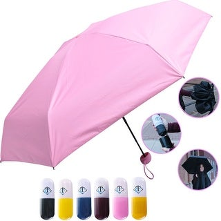 Travella Lightweight Umbrella Weatherproof No Drip Nano Coated UV Protection, Pink