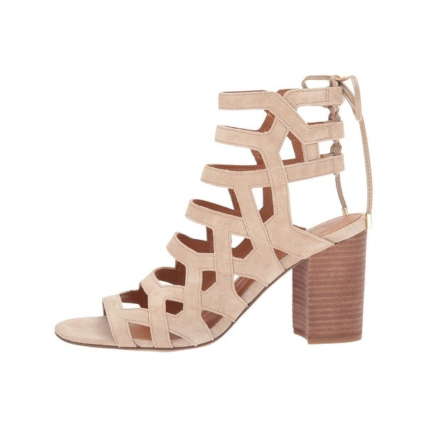 Franco Sarto Womens Connie Leather Open Toe Casual Strappy Sandals