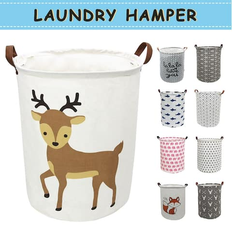 Auchen Laundry Hamper, Waterproof Laundry Baskets with Handles, Collapsible Canvas Basket for Toy Organizer, Clothes Hamper