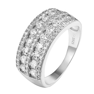 Solitaire Round Cut Ring Sterling Silver Wedding Engagement Lab Diamonds