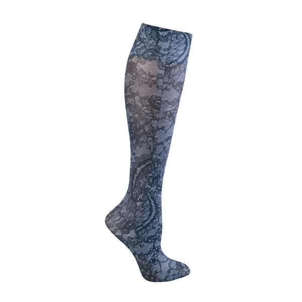 Women's Moderate Compression Wide Calf Knee High Stockings -Neutrals Set of 3 Asst