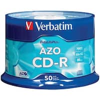 Verbatim 94523 700Mb 80-Minute 52X Datalifeplus(R) Cd-Rs, Branded 50-Ct Spindle