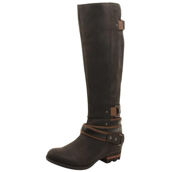 5c2452c1fcbe Shop Sorel Womens Lolla Tall Boots in Black/Mud - Free Shipping ...