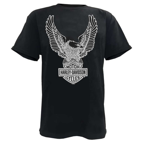 Harley-Davidson Men's T-Shirt Eagle Graphic Short Sleeve Tee Black Tee 30296656