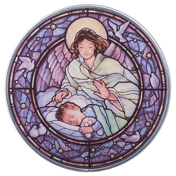 Design Toscano Little Boy Guardian Angel Art Glass